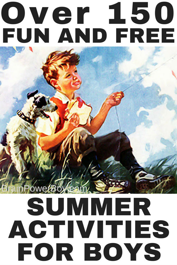 Give your boys a summer filled with wonder and old-fashioned fun. See over 150 summer activities chosen especially with boys in mind. There are things to do at home and on the go! Click to see the fun ideas.