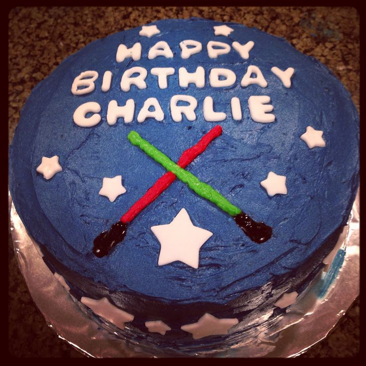Light Saber Birthday Cake