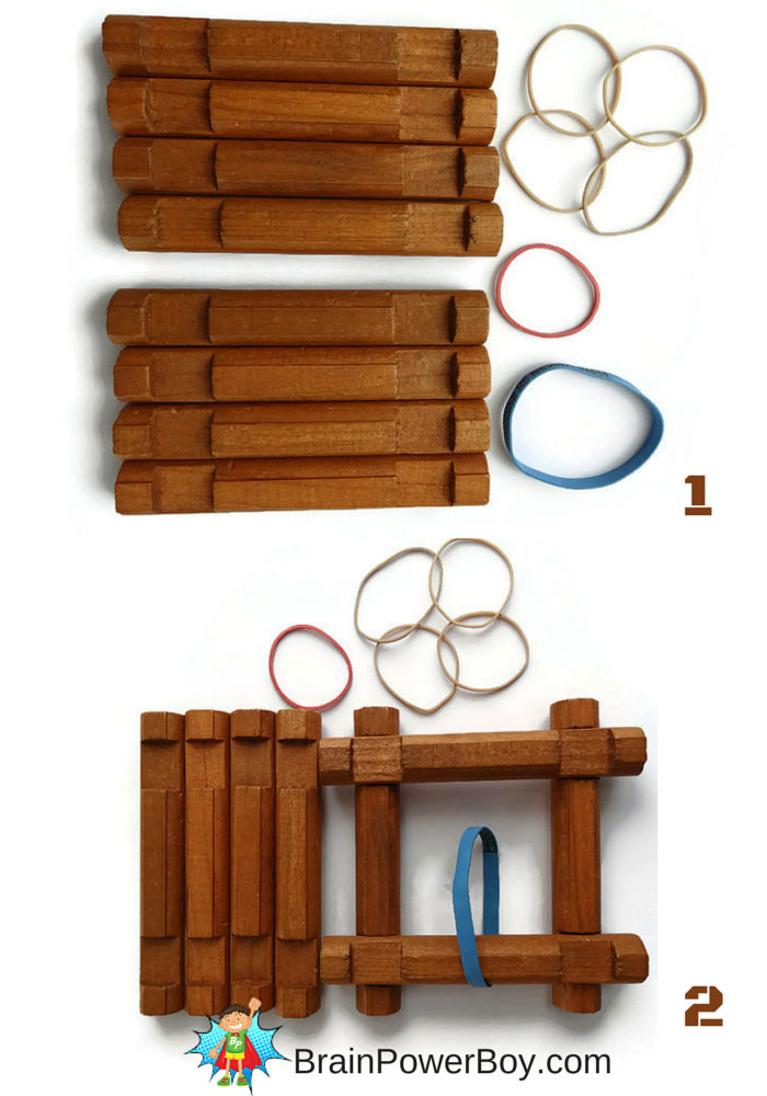 Make a catapult out of Lincoln Logs. Full instructions at BrainPowerBoy.com