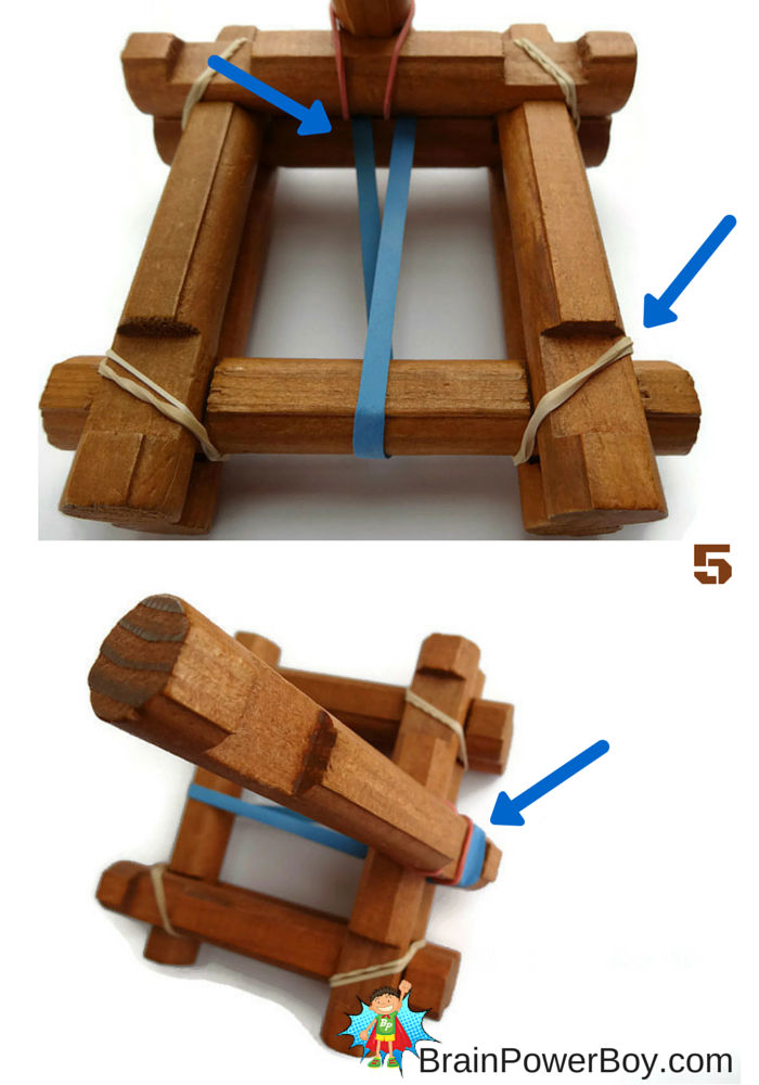 Make a catapult out of Lincoln Logs.