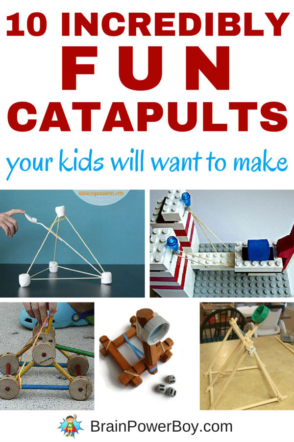 Want a great learning activity that is a lot of fun? Try building catapults. We picked 10 catapults from the very small to a backyard one that can chuck a pumpkin! Instructions included!