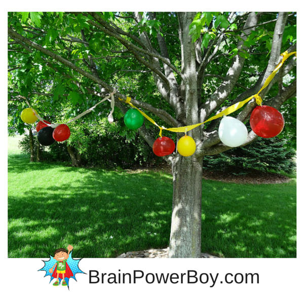 Play a fun Balloon Archery Game that is easy to set up and a bit challenging.
