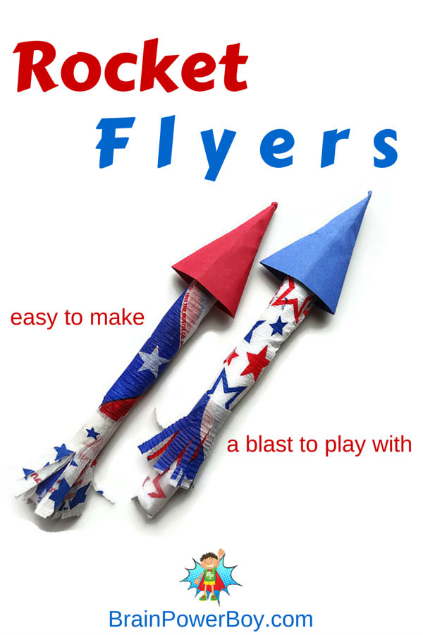 Make A Super Fun Rocket Flyer Brain Power Boy