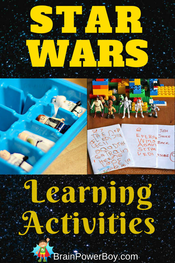 Do you have a Star Wars fan in your house? Try these Star Wars Learning Activities! Fun learning activities with Star Wars math, typing, writing, language, spelling, and science.