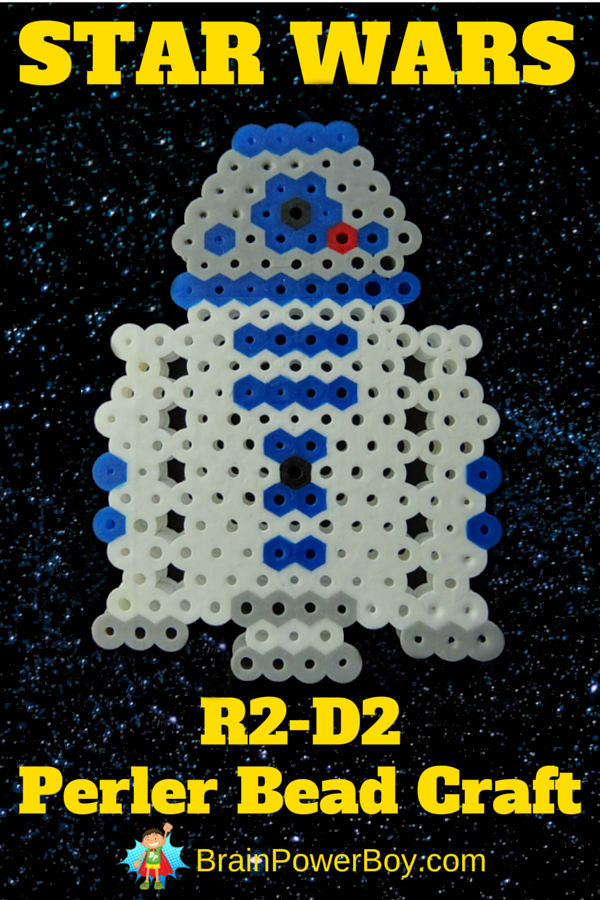 Star Wars R2-D@ Perler Bead Design