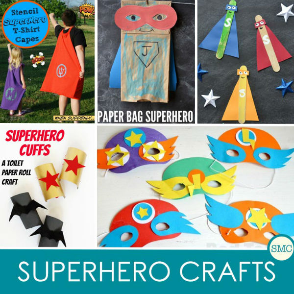 Super cool superhero crafts boys will enjoy for Boys arts and crafts