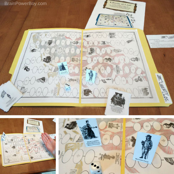 Play this game of chance called Liberty at Last to learn about the progress of the American colonies to their Independence. From #ad Home School in the Woods. See our review.