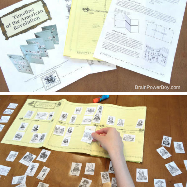 Printable timeline of the American Revolution from #ad Home School in the Woods.