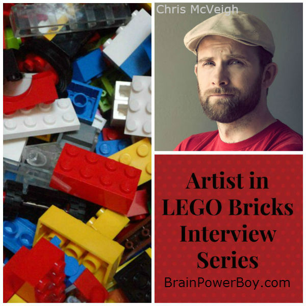 Artist in LEGO Bricks Interview series Chris McVeigh. See Chris' work and what he has to say about LEGO and Learning. | BrainPowerBoy