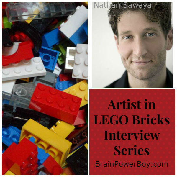 Artist in LEGO Bricks Interview Series Nathan Sawaya. See what Nathan has to say about LEGO and learning. | BrainPowerBoy.com