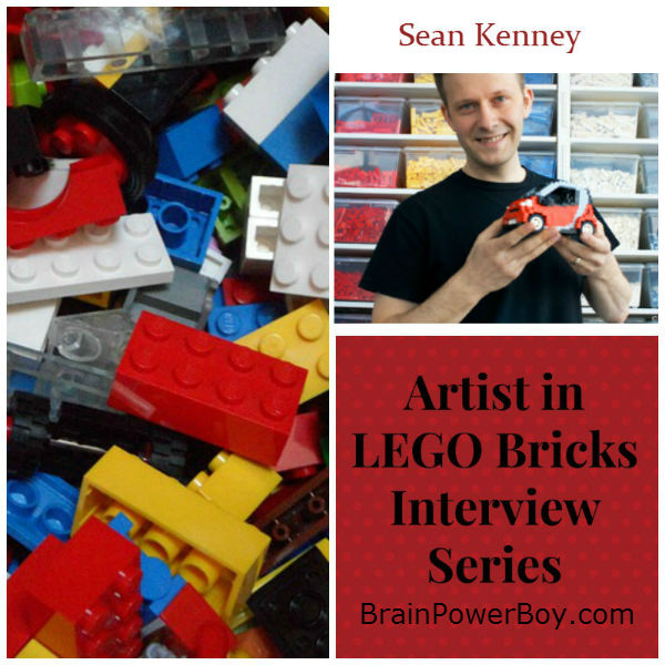 Artist in LEGO Bricks Interview Series: Sean Kenney. Sean has some great things to say about LEGO and learning plus see some of his great work | BrainPowerBoy