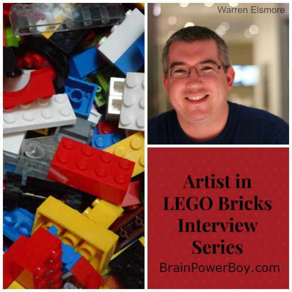 Artist in LEGO Bricks Interview Series: Warren Elsmore. See Warren's work (Brick City!) and his interview on LEGO and Learning | BrainPowerBoy