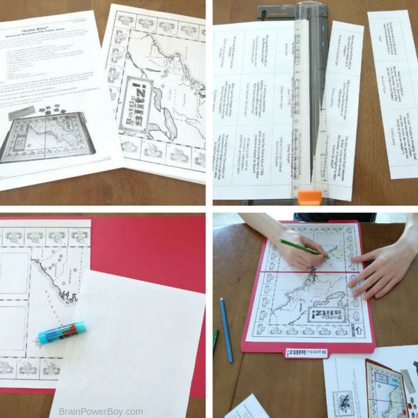 Here we are making the American Revolution game Battle Blitz (#ad - Home School in the Woods) Play this game to learn about the American Revolution.