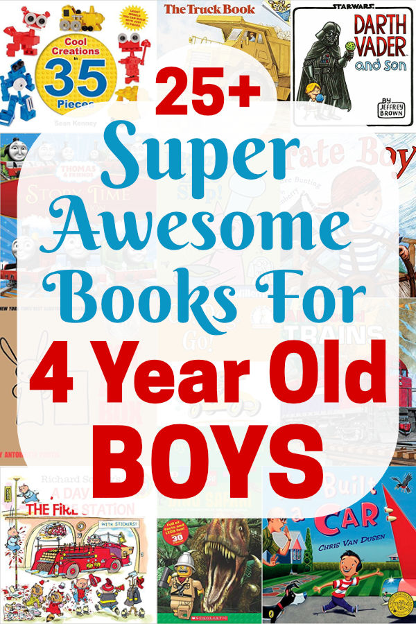 Do you have a 4 year old boy? If you, check out this list of super awesome books. It covers the very best fiction and non-fiction books for boys age 4. Tap or click to see them now.
