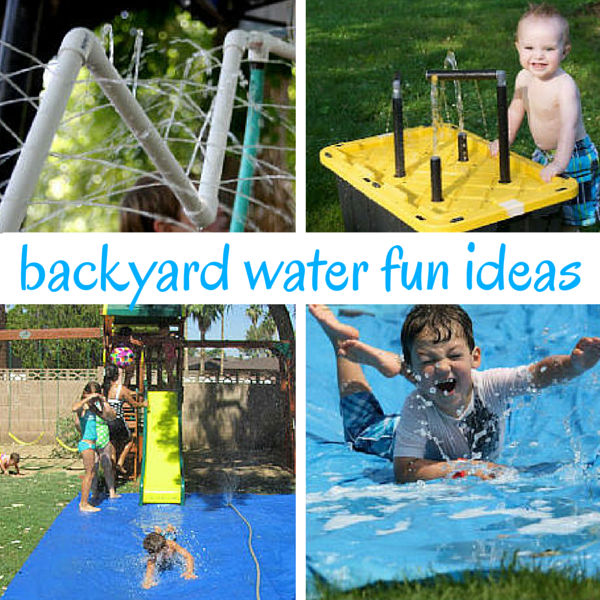 The Wettest & Coolest Backyard Water Play Ideas on flowers for backyard, fun things for backyard, lighting for backyard, bush ideas for backyard, fun games for backyard,