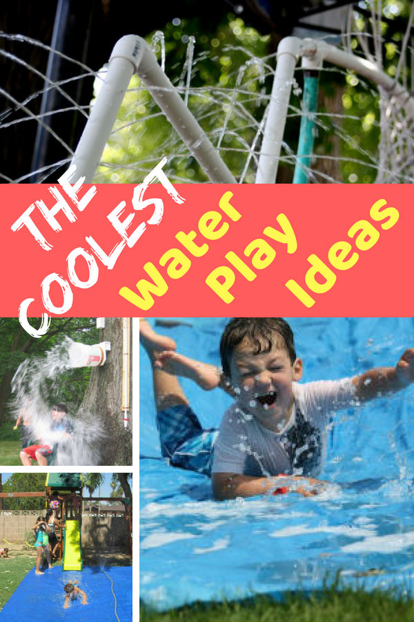 "We all have ""those days"" when everyone is bored and maybe a bit crabby. These backyard water play ideas WILL FIX Everything! Click to see them all and turn ""those days"" into fun days that your kids will always remember."