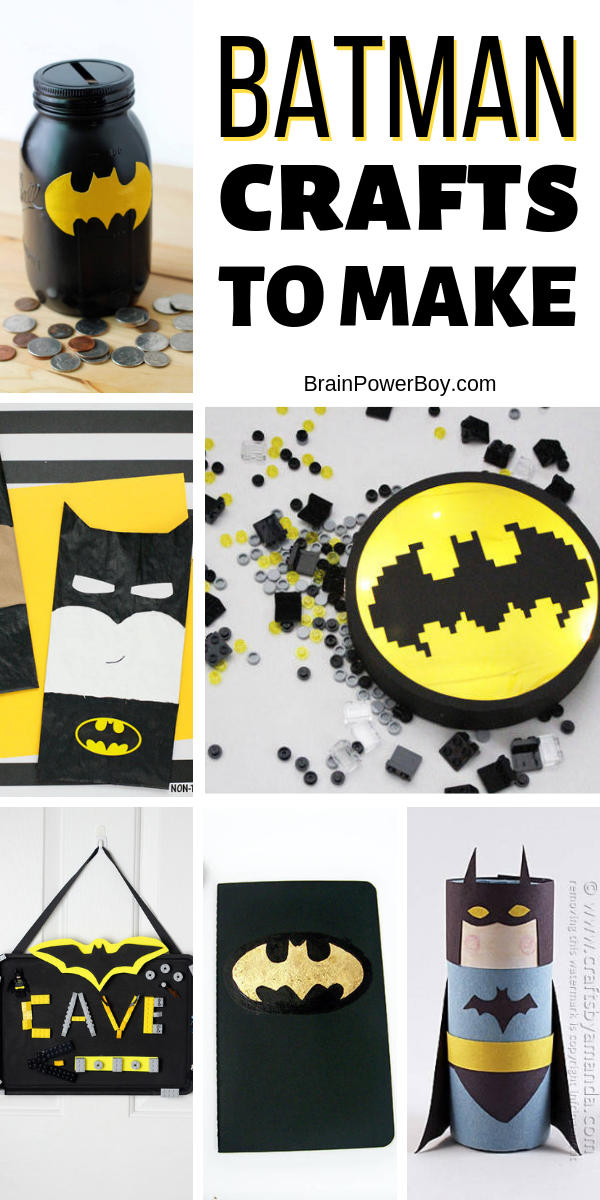 Batman crafts to make! Don't miss them. I love the batcave one!