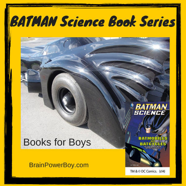 Batman Science Book Series Books for Boys | BrainPowerBoy.com