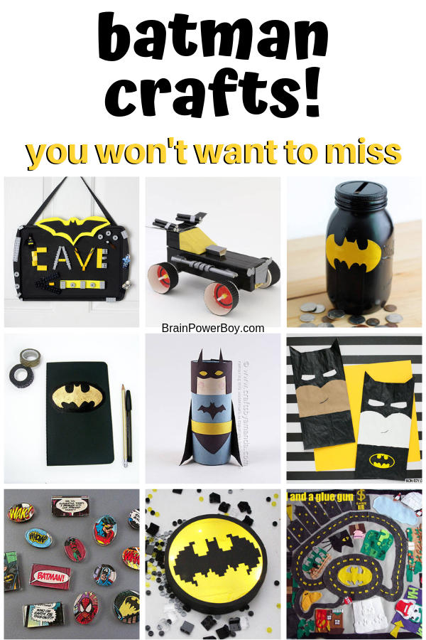 Batman crafts you won't want to miss. Make them with your kids or for yourself! The are superhero worthy.