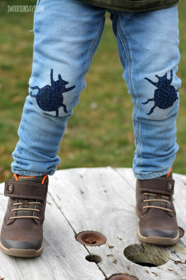 Beetle Bug Knee Patches for Boys Jeans