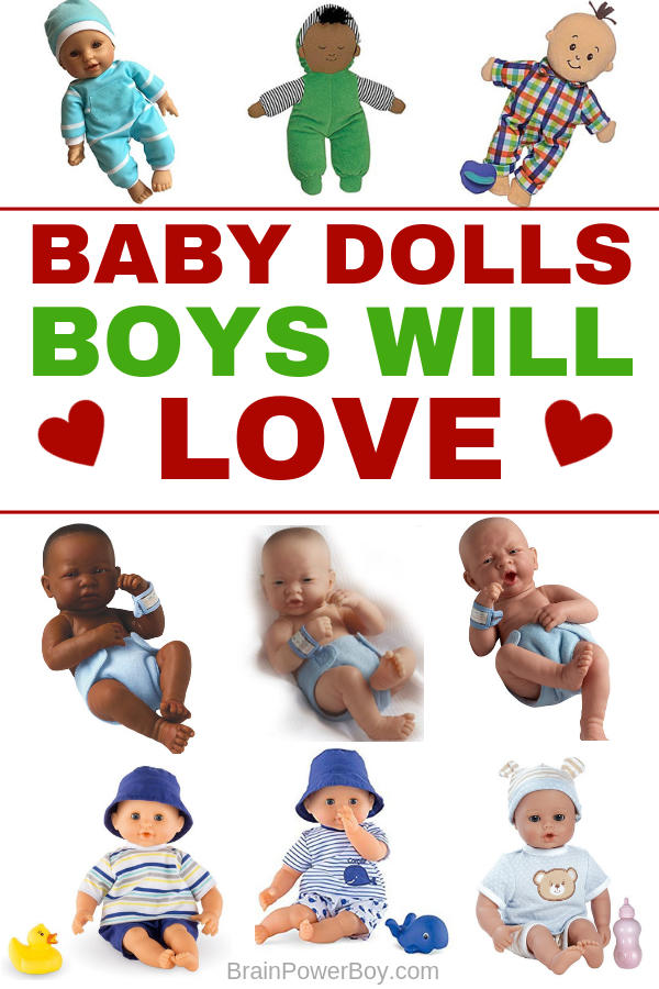 The best baby dolls for boys on the market today. Boy mom approved and hand-selected dolls that boys will love to play with. (Yes! Boys do play with dolls!!)