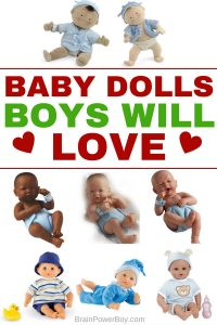 Hand-picked selection of the very best baby dolls for boys. Award winners, highly rated, excellent dolls boys will love to hug and play with! Includes cloth dolls, baby dolls, drink-and-wet dolls and dolls for the bath, all chosen especially for boys. Click to see them all.