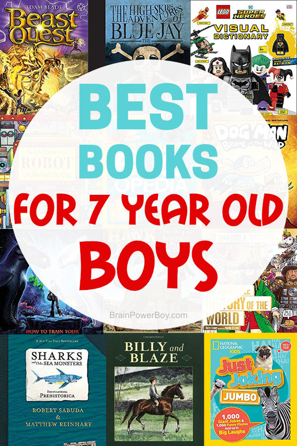 These are the best books for 7 year old boys. Books to get and keep them reading! Books that they will actually enjoy! Over 25 titles that you really need to see.