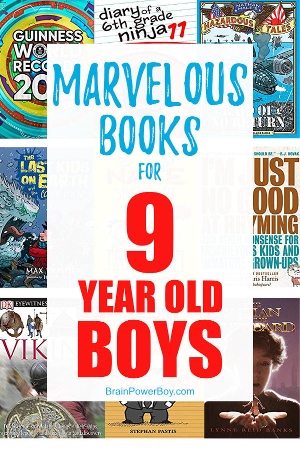 Best Book for 9 Year Old Boys! If you have a boy who is 9 you will want to check out this list. Great fiction and non-fiction titles to get and keep him reading.