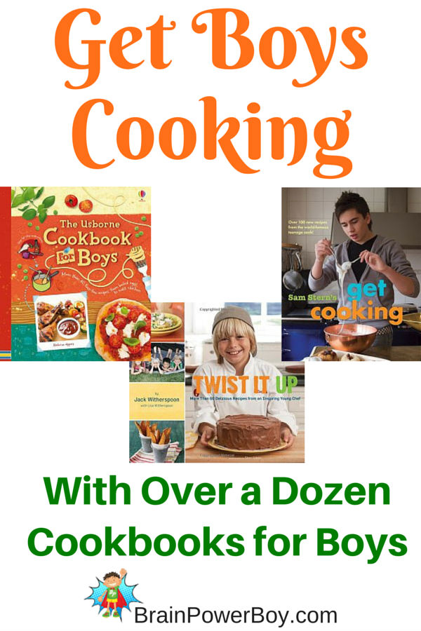 Get your boys in the kitchen and make some memories that will last a lifetime. This selection of a dozen cookbooks for boys is a wonderful way to teach your boys to cook and bake.