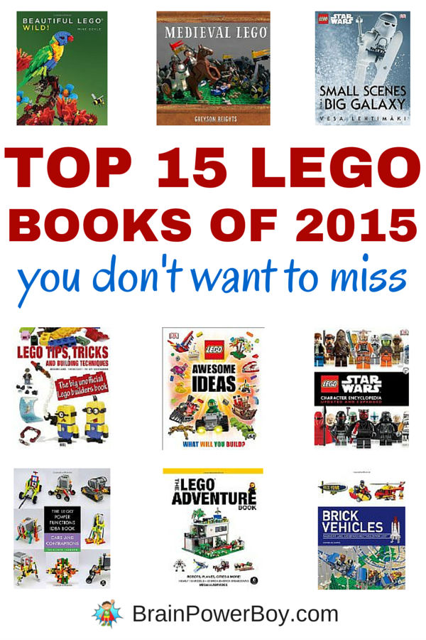 Top 15 LEGO Books of 2015 You Don't Want to Miss