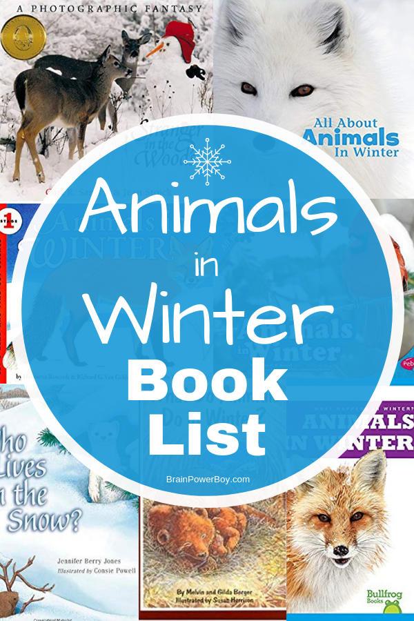 Animals in Winter Books
