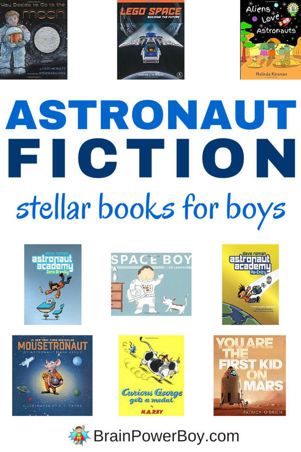 Do you have a boy who loves everything space? Have we got a list for you! Check out these fiction astronaut books for boys preschool through tween. They are favorites among those who wish they could go into space - or at least read more about it. Click through to see the selections and access our non-fiction astronaut book list as well.