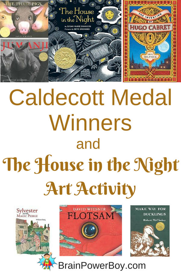 Caldecott Medal books that made our best books for boys list. Includes art activity.