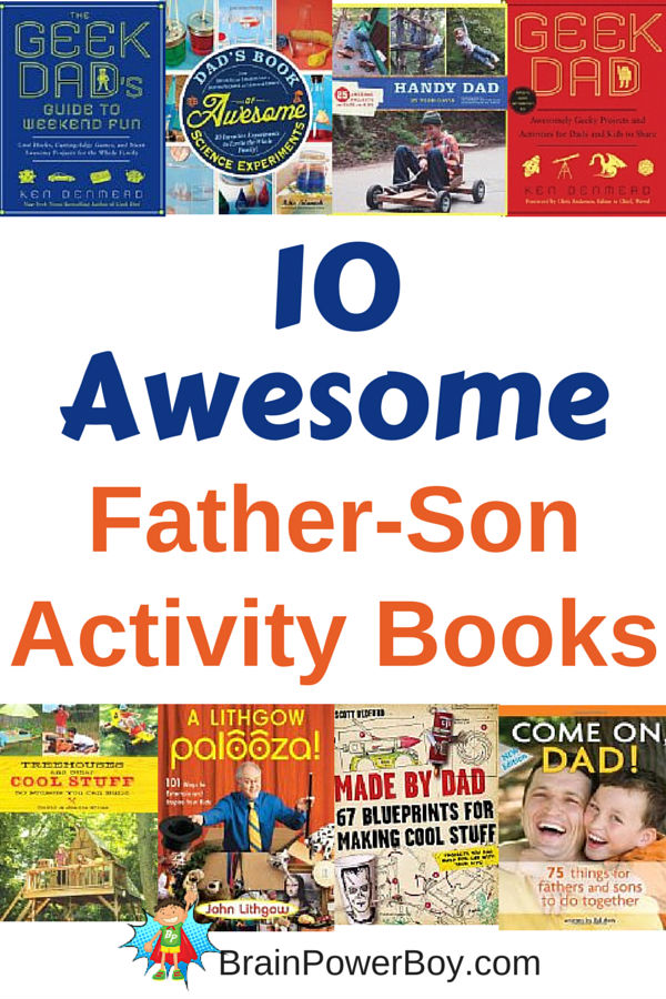 10 Awesome Father-Son Activity Books
