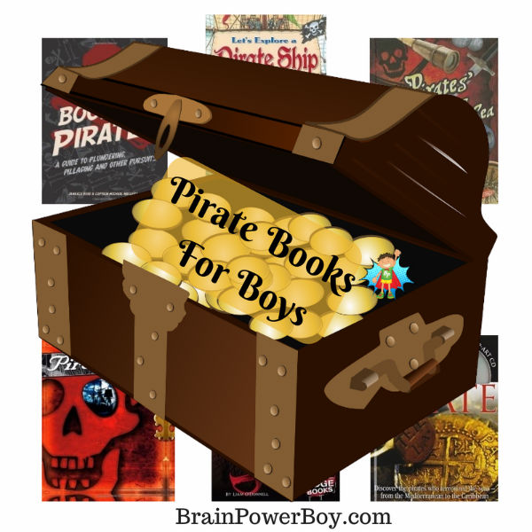 Awesome Pirate Books for Boys that will catch your boys' interest.