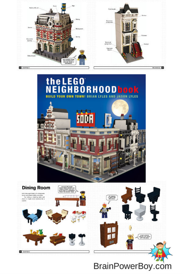 Check out The LEGO Neighborhood Book. Lots of great ideas for buildings and accessories. What will your kids build?