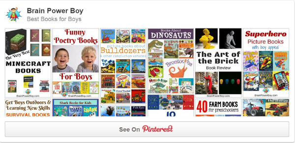 Our Best Books for Boys on Pinterest Board will help you find the some awesome books that boys are sure to love.