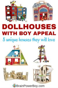 If you are looking for the best dollhouses for boys take a look at these unique choices. They are so neat it is hard to choose a favorite. Maybe the pirate cove one? I like them all!
