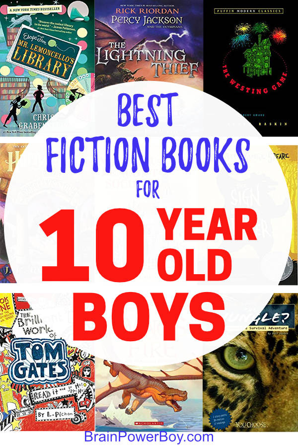 The best fiction books for 10 year old boys. Don't let them miss these boy approved titles!