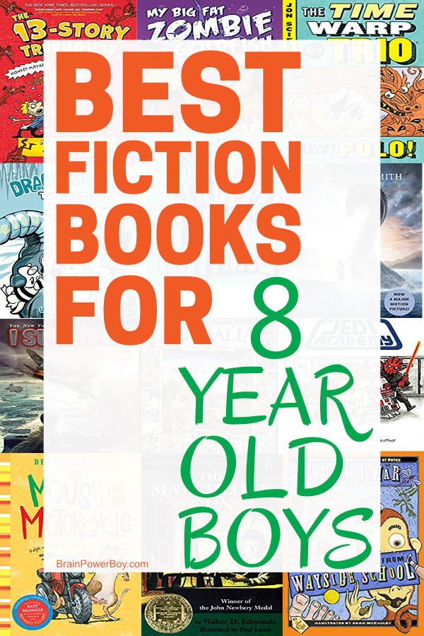 Best Fiction Books for 8 Year Old Boys. From the most popular to classic they will actually read, these fiction books for boys age eight are winners!