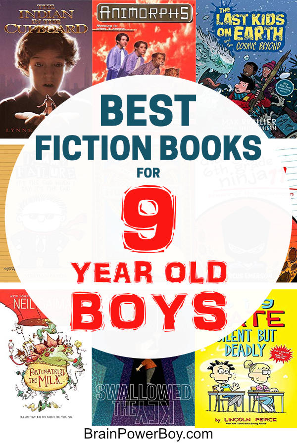 Want to get, and keep, your 9 year old boy reading? These are the best fiction books for nine year old boys. I'm sure you will find some books he will totally enjoy!