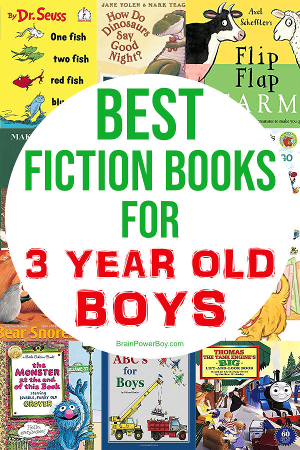The perfect fiction books for 3 year old boys. These books are just right for boys age 3! They will want to read them again and again.