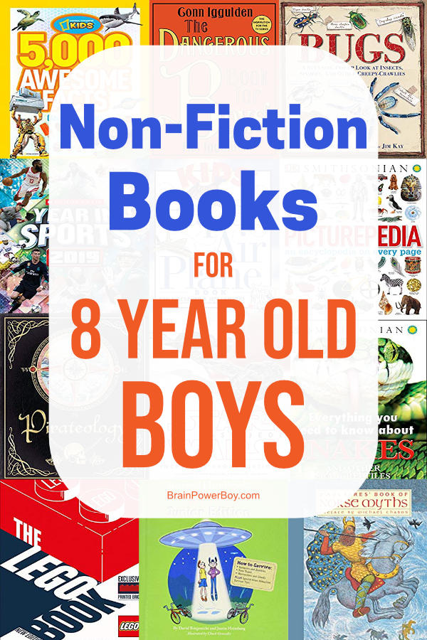 These non-fiction books for 8 year old boys will totally hold their attention. Get the best books and they will enjoy reading!