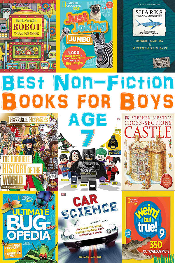 We found the best non-fiction books for 7 year old boys. If you want to get your boy reading, just hand him one of these! See all the titles on BrainPowerBoy.