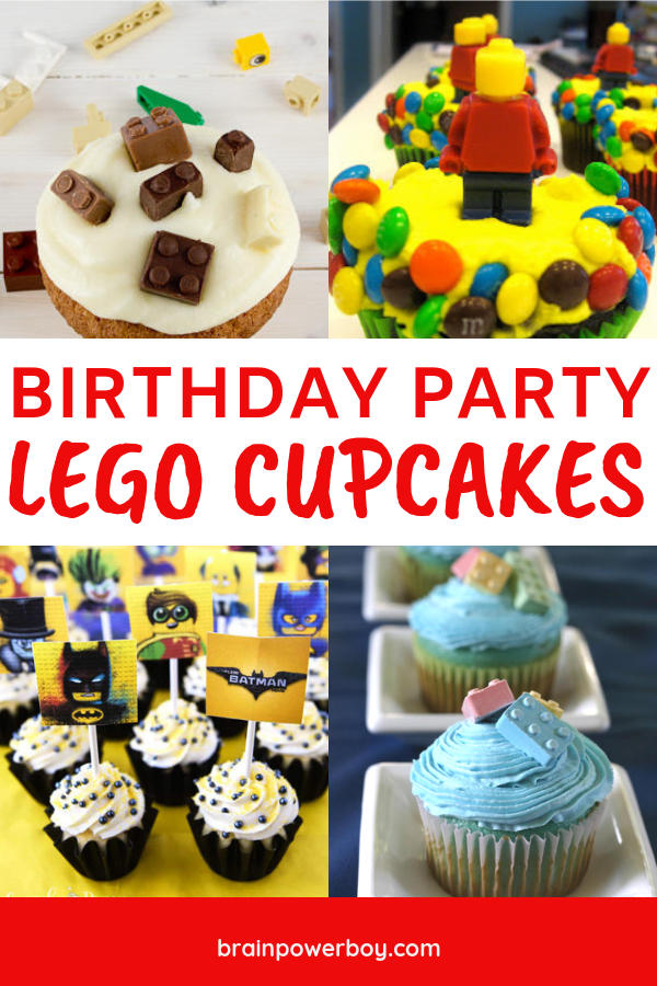 Make these LEGO cupcakes for your LEGO birthday party. The kids will love them! They are easy to make! Recipes and tutorials are included.