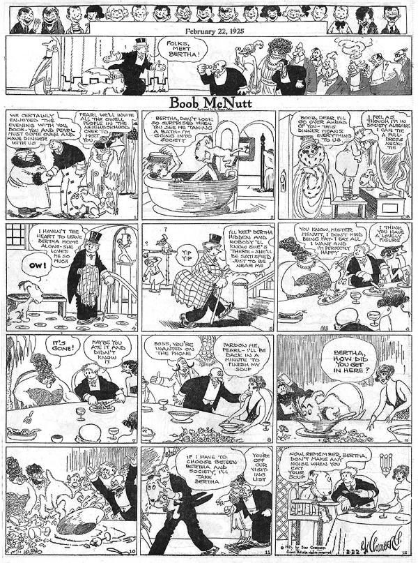 Boob Mcnutt Comic strip by Rube Goldberg Feb 22 1925