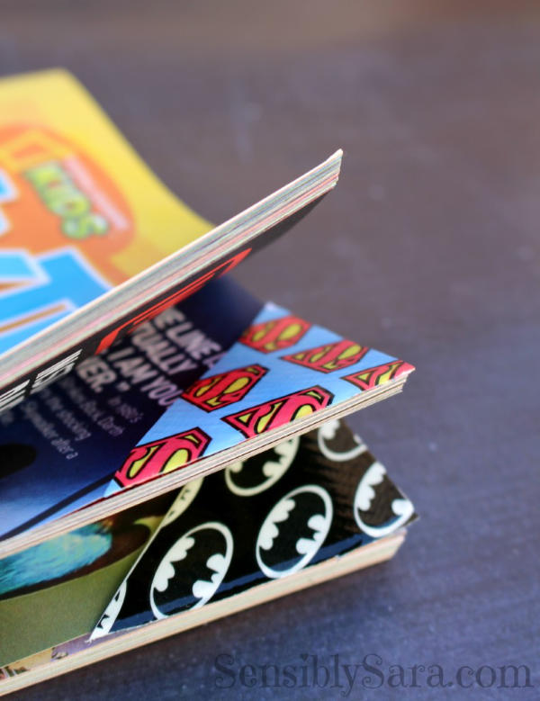 Superhero Duct Tape Bookmarks