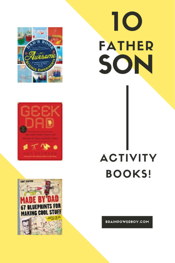Books to help dads and their boys find cool things to do together!