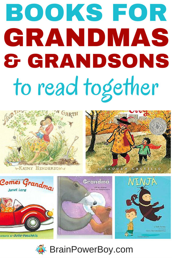 8 great books for Grandmas and their Grandsons to read together. Funny books that boys will like, as well as super sweet books that are guaranteed to get them cuddling up with Grandma, this is the best selection of books for Grandmothers and their Grandsons. Click image to see all eight books.