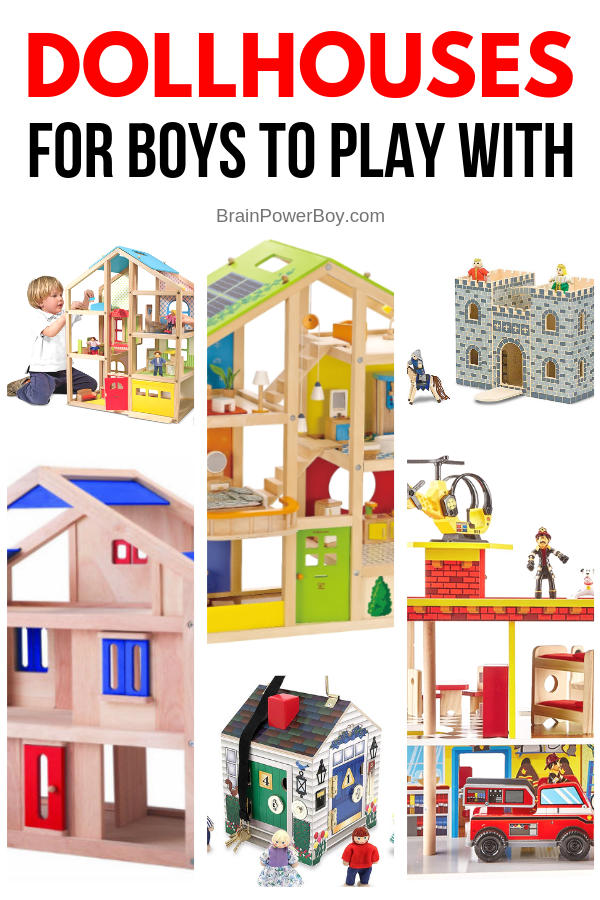 Amazing dollhouses for boys to play with. (Yes, boys do play with dollhouses!) See these and many more dollhouses along with a buying guide and a link to some unique choices as well by tapping or clicking now.
